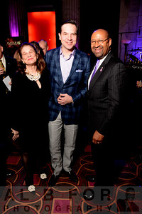 Chris May (anchor of CBS 3's Eyewitness News) with mother Beverly May and The Honorable Mayor Michael A. Nutter