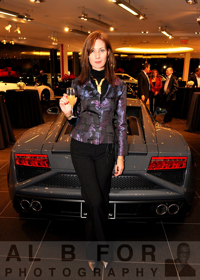 FC Kerbeck Premium Brand Division.  Delphine Raka (Weichert Realtors) in front of 2013 Lamborghini Gallardo LP 560-4 Coupe