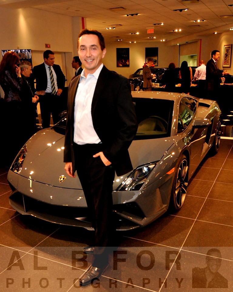 FC Kerbeck Premium Brand Division. Edward Rosero (President Express Stores, LLC) in front of 2013 Lamborghini Gallardo LP 560-4 Coupe