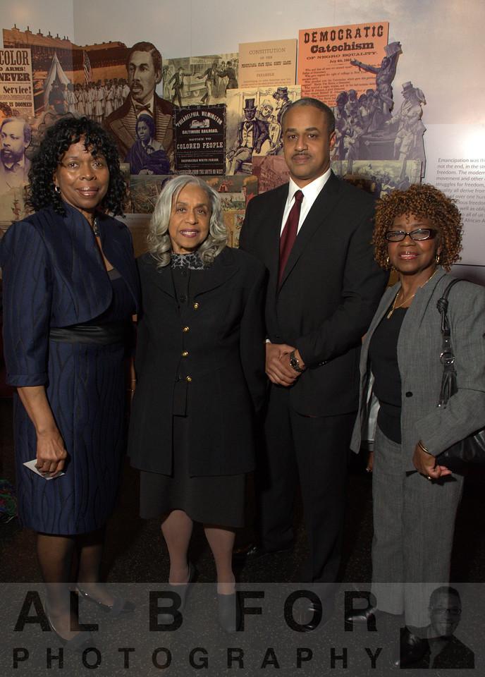 Marilyn H. Rivers, Edith Dennis Moore Stephen, Lonnie Moore III and Nancy Alston
