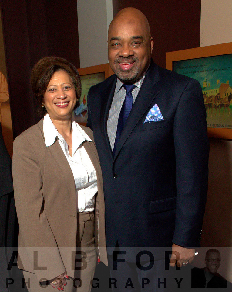 Joi C. Spraggins (Legacy Pathways, President and CEO) with E. Steven Collins (Director of Urban Marketing and External Relations,  RADIO ONE Philadelphia)