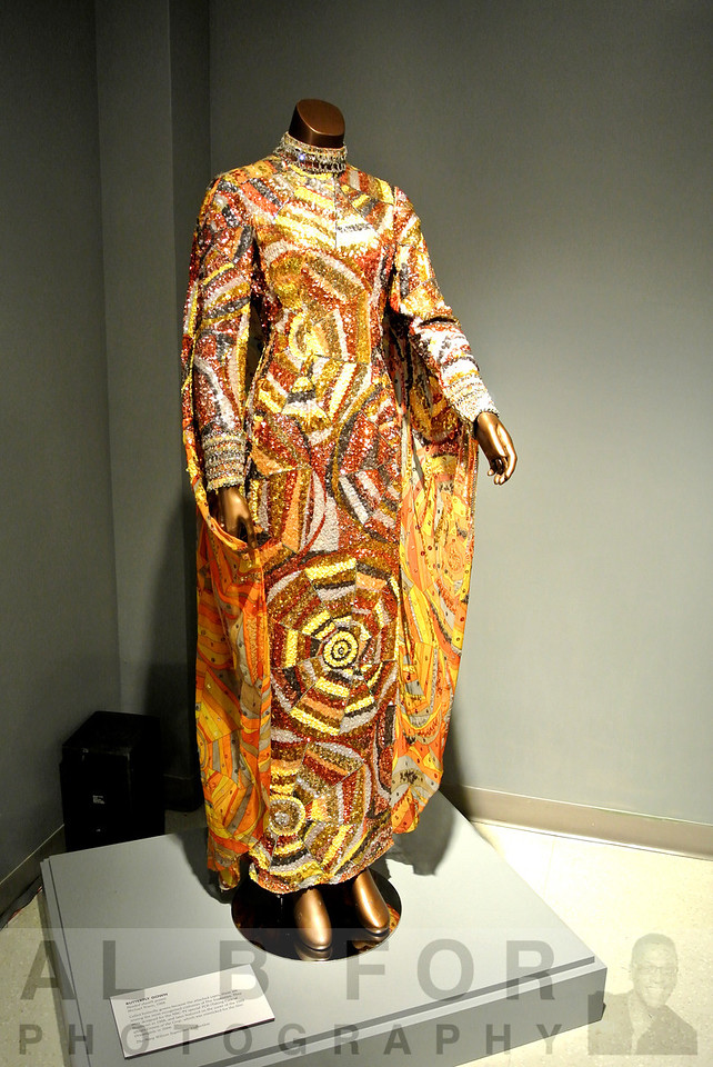 "BUTTERFLY GOWN - Designed by Michael Travis (1928-1994) in 1968, the Supremes appeared in these dressed on the cover of their final studio album entitled ""Cream of the Crop""."
