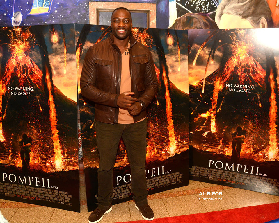 """Jan 27, 2014 Advance Screening of """"Pompeii"""" @ The Franklin Institute with Kit Harington and Adewale Akinnuoye-Agbaje appearing live on the Red Carpet"""