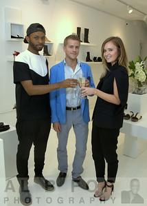 Associates ShiKeith, Christopher Reilly and Kate Shields (wearing Maison Martin Margiela)