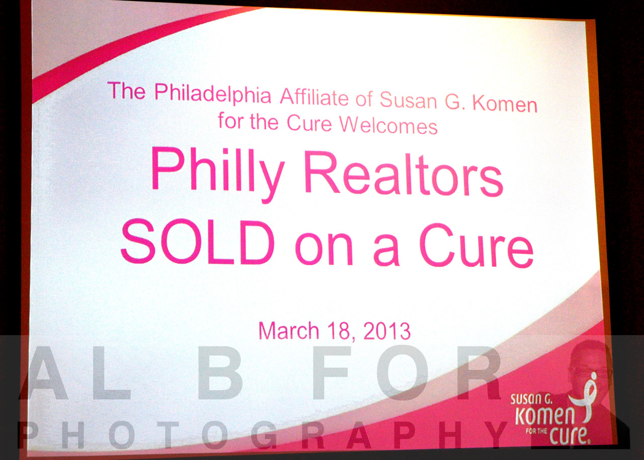 MAR 18, 2013  Philly Realtors SOLD on a Cure, Susan G. Komen for the Cure, Philadelphia Affiliate