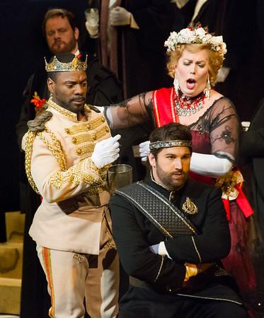 Act I, Scene 1.  Shannon DeVine, Caroline Worra, Alex Richardson.