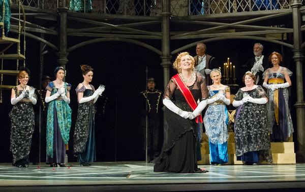 Curtain call.  Caroline Worra as Geltrude.