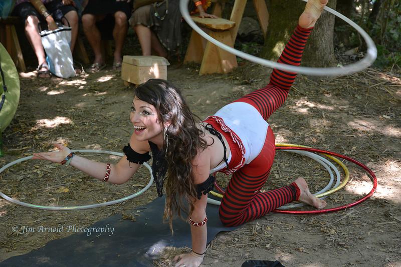 Talented Hoop Twirler