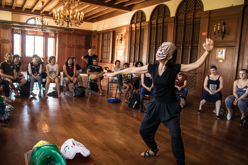 Performance artist Kuniko Yamamoto recently spent time with New College writing students.