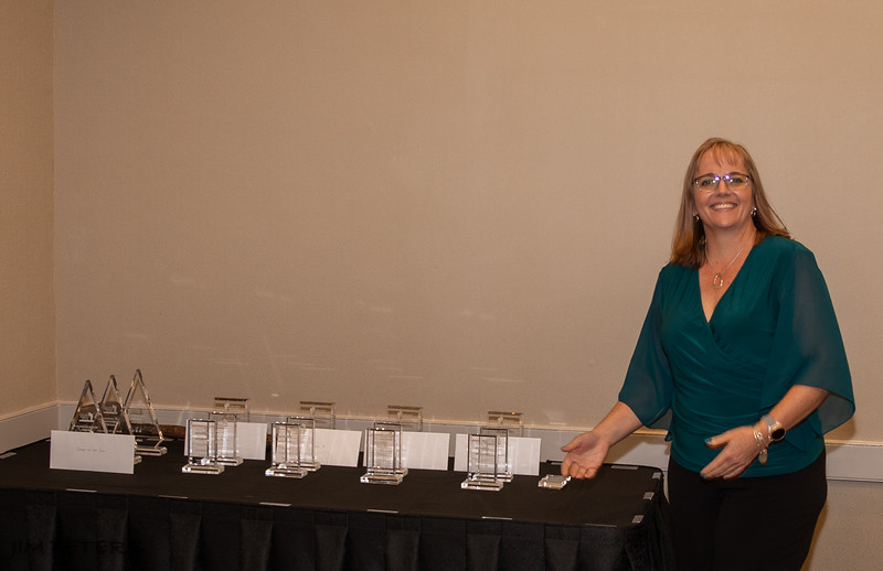 Ansa du Toit, Director of Competitions with competition awards