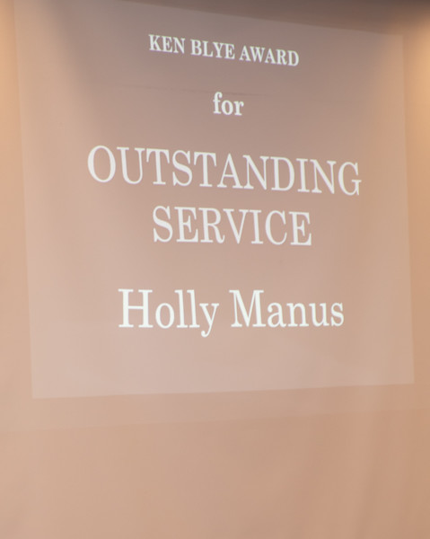 Holly Manus Winner of Ken Blye Award for Outstanding Service - Outstanding Programs 2019