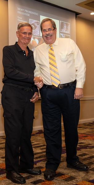 Peter Christensen, Most Promising Beginner, and President Ron Lawrence
