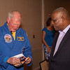 Astronaut McBride and Past President Cliff