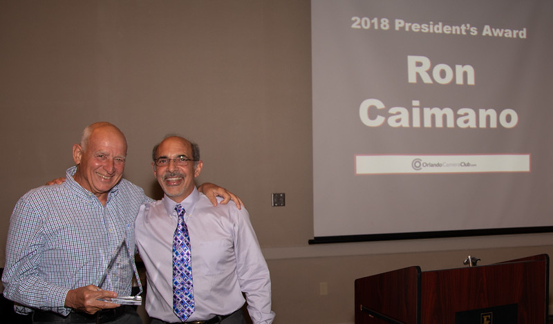 Ron Caimano and President George Crudo