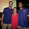 Rob Valentino (left) and Tommy Redding (right) of Orlando City Soccer with Lauren Zimniski (center) of Give Kids The World - 22 July 2014 (Photographer: Nigel Worrall)