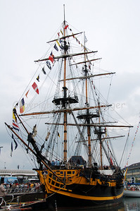 The Grand Turk, built in 1997 in Marmaris, Turky is a replica of a British frigate from the 18th Century. This ship was shown on TV in the Hornblower series. The ship has 10 cannons of which 2 are used for ceremonial purposes. Length: 46.3m; width 10.4m, draught: 3.04m. Shot with the Nikkor 18-200mm lens. No post processing.