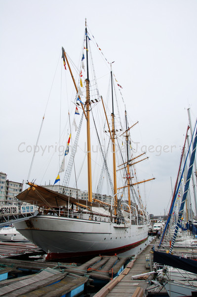 The barquentine Mercator, a museum ship. She was named after Gerardus Mercator, a Flemish cartographer and was designed as a training ship for the Belgian merchant fleet. She was built in Scotland and launched in 1932. Shot with the Nikkor 18-200mm lens. No post processing.