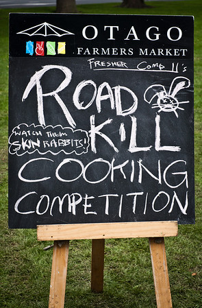 Otago Farmers Market Road Kill Cooking Competition
