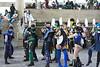 Mortal Kombat cosplayers.
