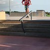 Taking a break from the road at the Lake Charles Skate Park