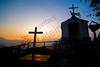 Mountain Chapel at sunset - Italy