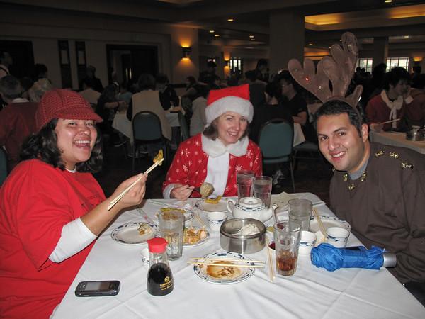 Santa Con members met for dim sum at the Empress Pavilion restaurant before starting their trek.