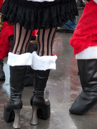Nightmare before Christmas Santa shoes.