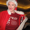 This was the Los Angeles Santa Con leader. She was not only Santa but a watch saleslady as well.