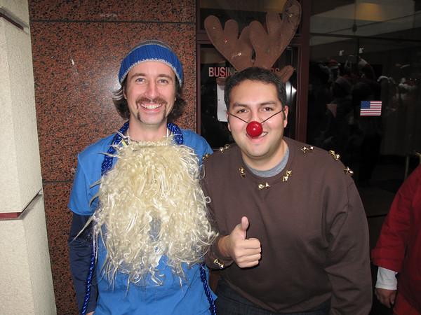 Hannukah Harry and Rudolph.