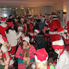 Santa Con members prepared for the event by partaking of some holiday cheer (Hic!).