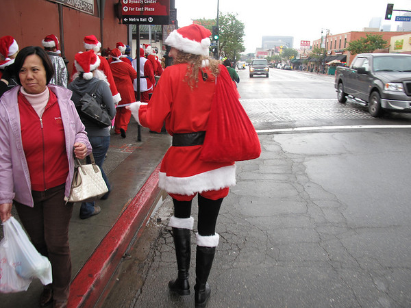 Some people just did not get the whole Santa Con thing...