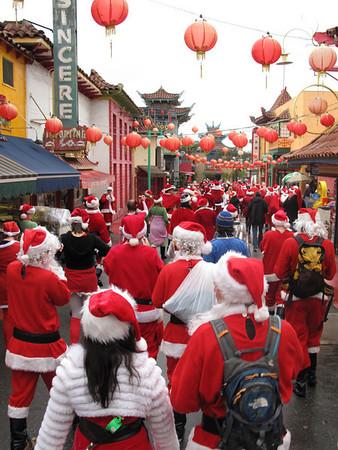 Santa Con in Chinatown.