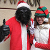 Monkey Santa and his sidekick elf.