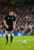 Dan Carter lines up a kick for goal during the International rugby test with Ireland against the New Zealand All Blacks at Aviva Stadium Dublin, November 2010