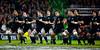 The New Zealand All Blacks preform the pre match haka before the International rugby test with Ireland against the New Zealand All Blacks at Aviva Stadium Dublin. November 2010