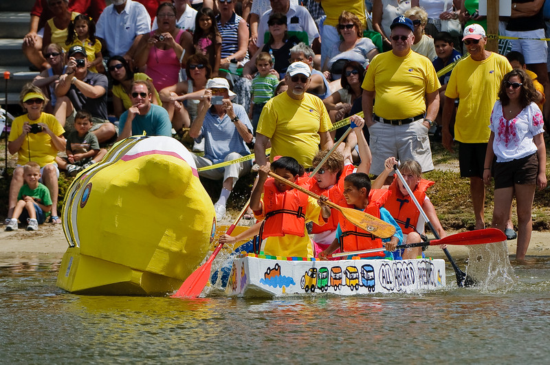 One problem with the Yellow Submarine is that the paddlers could not see where they were going.