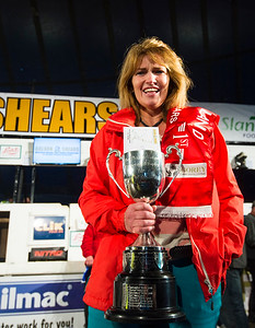 Colette Deegan of Ireland with the All Ireland Queen of the Shears Trophy at the Golden Shears World Championships.