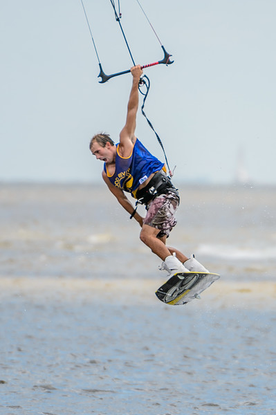 Kite Surfing near Sanibel Bridge 9/9/2012