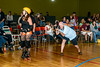 Roller Derby - Ft. Myers Derby Girls - Misdemeanors vs. Bombshells! : Ever in search of interesting photographic subjects, someone suggested the Ft. Myers Roller Derby Misdemeanors, so Joe, Ed and I headed out for my first ever Roller Derby on April 22, 2012 when they took on the Bradenton Nuclear Bombshells. The lighting was very difficult, and the action quick, but a few images came out.  And the final score was an impressive home team win of 209 to 40.  I do this for fun, if you like any images you can download and use without charge, I do ask photo credit if published anywhere.  (The buy button on the pages is from Smugmug, not me -- they will print these for you if you wish, I am not involved in that, you can also just download and print at Costco or somewhere.)