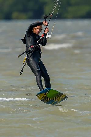 Kite and Wind Surfing off Sanibel Causeway 01/17/2016