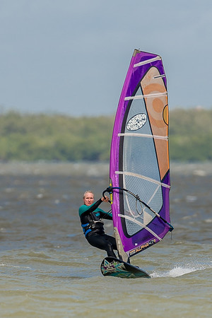 Kite and Wind Surfing off Sanibel Causeway 01/17/2016