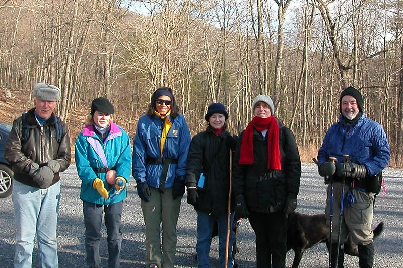 Well they look cold but they haven't started yet.  They will warm up quick.  L to R Ed, Phyllis Altrogge, Sharlene Deskins, Twyla Jackino, Marty Gane, Andy Kapfer.  George Evans taking photo.
