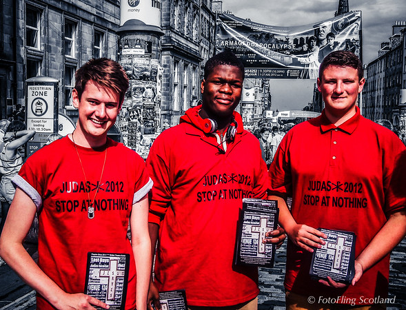 "Boys in red promote ""Last Days of Judas Iscariot"""