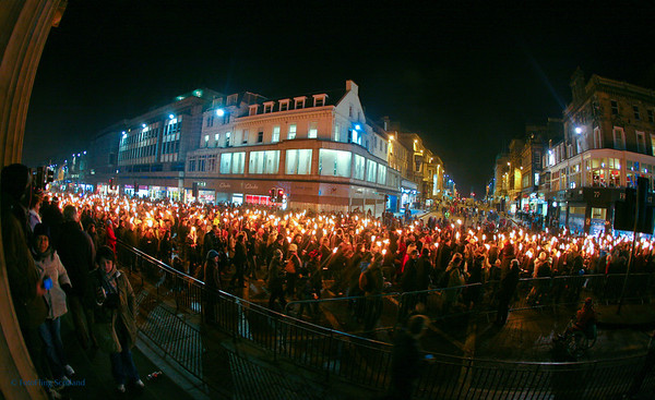 Torchlight Procession, The Mound, Edinburgh