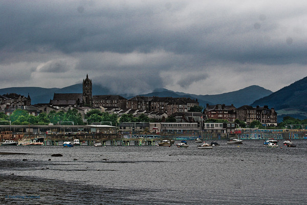 Gourock  Setting of the European Pipeband Championships in 2006
