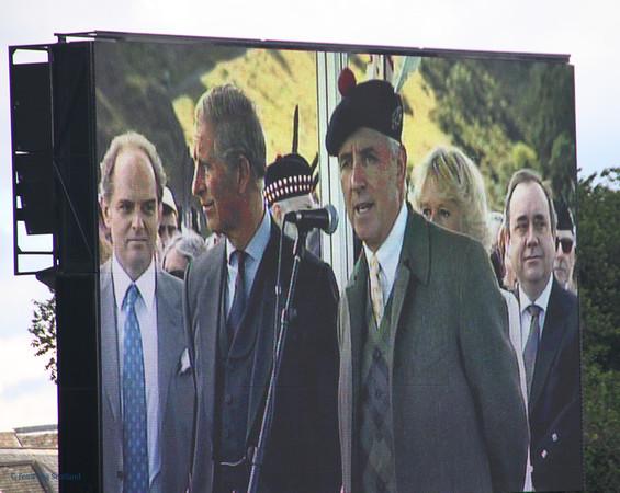 The Big Screen HRH Prince of Wales opens The Gathering 2009, Edinburgh
