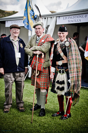 Chieftain and clansmen<br /> The Gathering 2009, Edinburgh