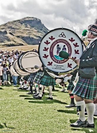 Massed Pipe Bands The Gathering 2009, Edinburgh