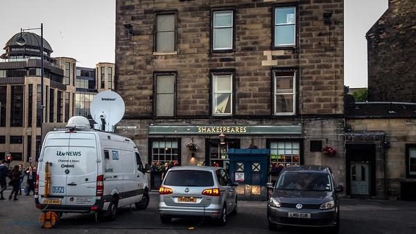 ITV News from centre of Edinburgh