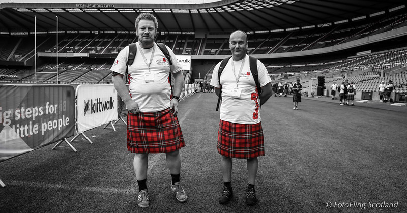 Red Kilties supporting Poppy Scotland